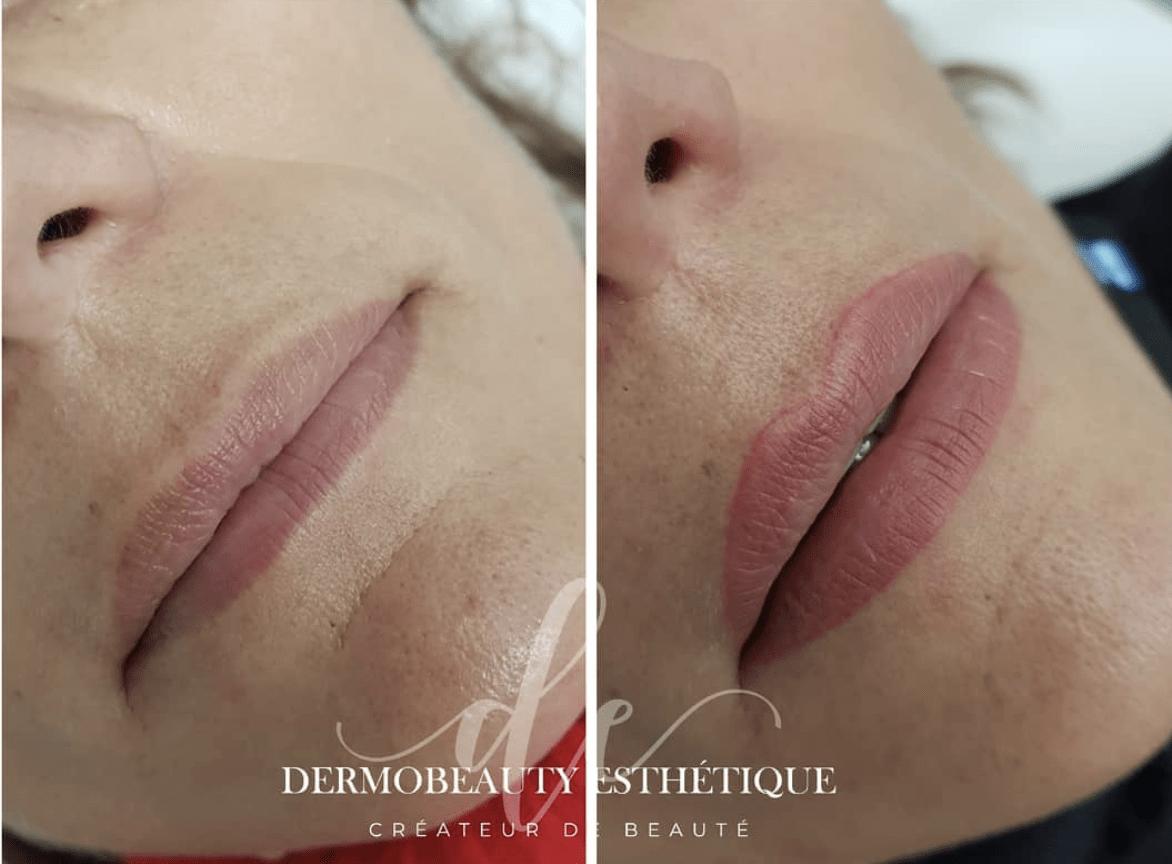 Maquillage permanent bouche - contour lèvres en salon institut de beauté Bouches du Rhône 13