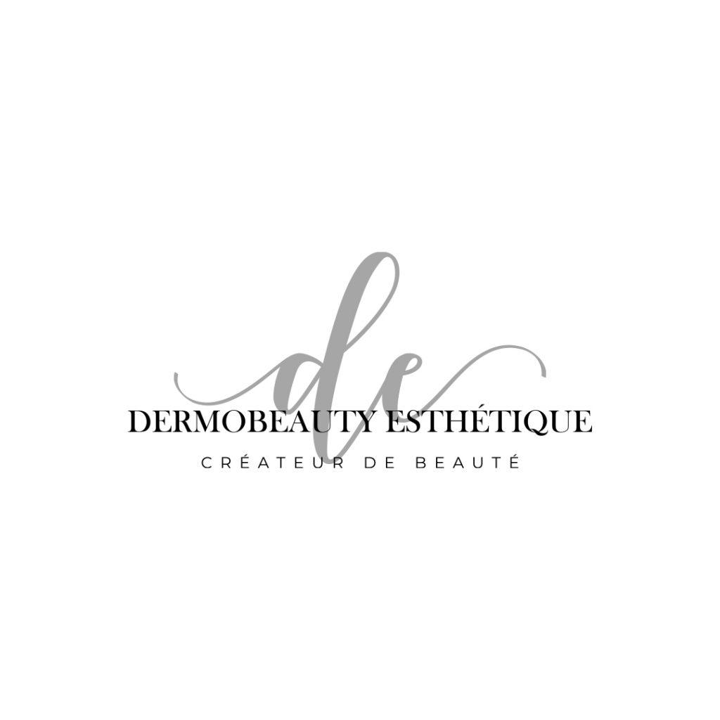 Dermobeauty Esthétique Logo Noir carré