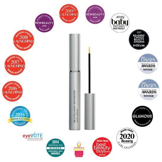 Awards pour REVITALASH ADVANCED, Soin revitalisant pour cils en vente chez Dermobeauty Esthétique