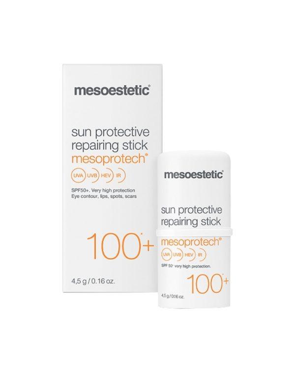 Stick protecteur solaire 100+ Mesoprotect pour contour yeux lèvres et taches et cicatrices