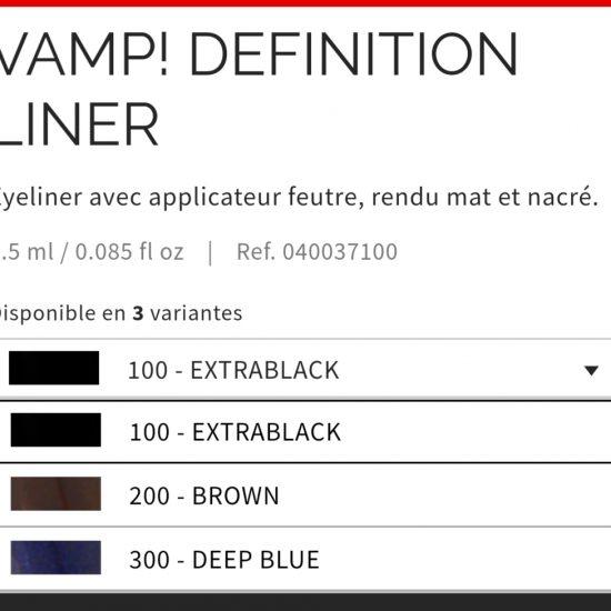 Eye liner Vamp définition Pupa : 4 couleurs aux choix